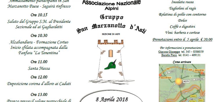 8 Aprile 2018 24° Festa del Gruppo di San Marzanotto d'Asti