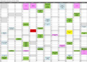 calendario sezione di asti 2018