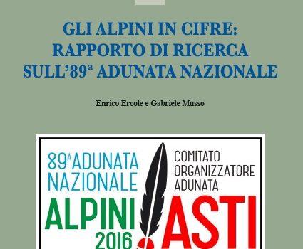 """Gli Alpini in cifre: sabato 19 maggio Polo Universitario """"Rita Levi Montalcini"""" Piazzale Fabrizio de Andrè  Asti"""