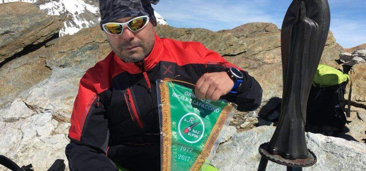 Gruppo Alpini di Incisa Scapaccino sulla vetta del Monte Rosa