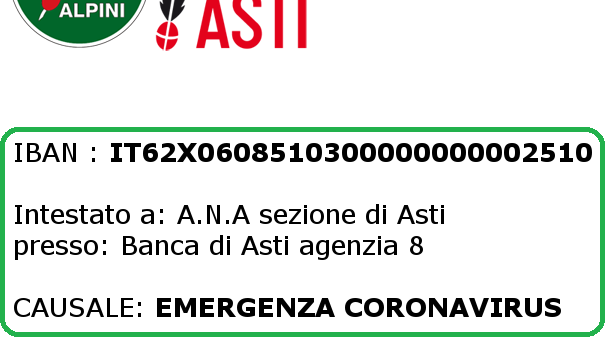 Alpini Astigiani per l'Ospedale Civile di Asti